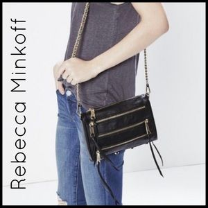 Rebecca Minkoff Panama Black Leather Crossbody!